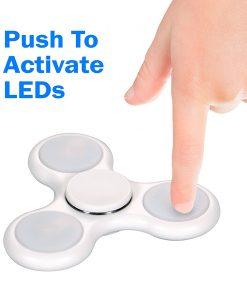 Flashy LED Light 360 Fidget Spinner