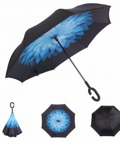 "Innovative Inverted Double-Layer Waterproof Umbrella 42.1"" Wide"